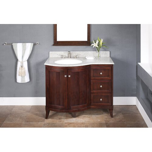 "Lanza Aire 42"" Vanity Set with Backsplash"