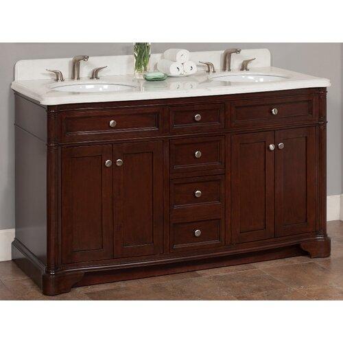 "Lanza Chester 60"" Double Bathroom Vanity Set & Reviews"