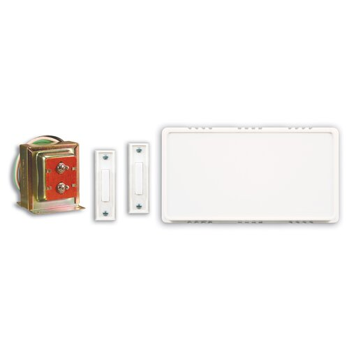 Wired Door Chime Contractor Kit with Two Push Buttons