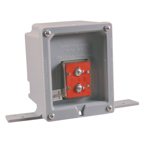 Wired Door Chime Transformer with UL Listed Rough-In Box