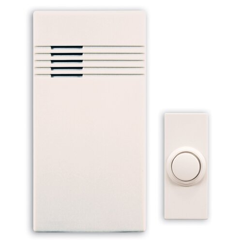 Heath-Zenith Wireless Battery Operated Door Chime Kit with Off-White Cover