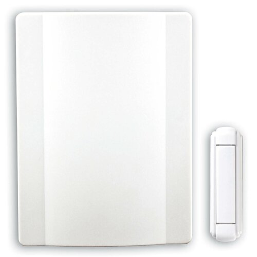 Heath-Zenith Wireless Battery Operated Door Chime Kit with Genuine Bell Sound