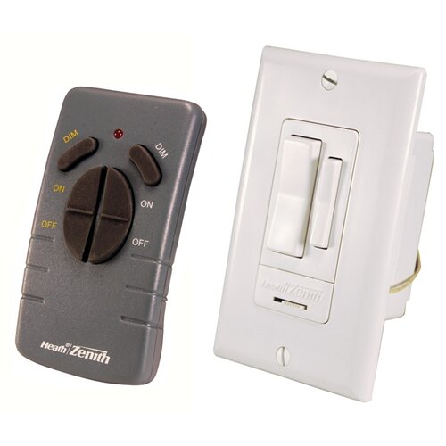 Heath-Zenith Wireless Command Remote Control Switch Set in White