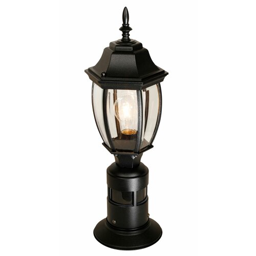 heath zenith 1 light 7 outdoor post lantern with motion sensor. Black Bedroom Furniture Sets. Home Design Ideas