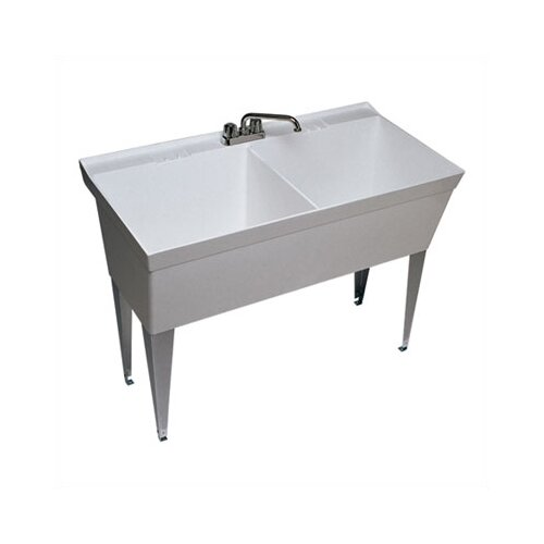 Swanstone Veritek Double Bowl Free Standing Laundry Sink