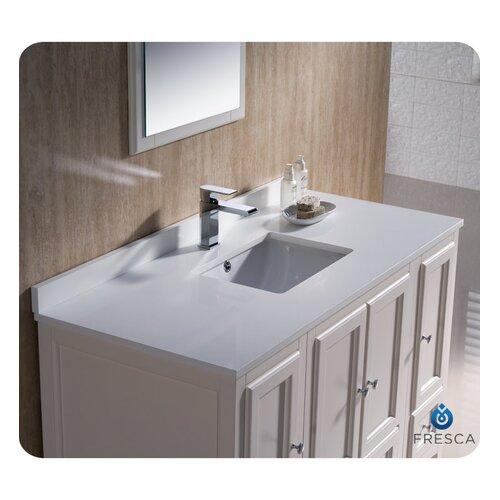 "Fresca Oxford 48"" Traditional Bathroom Vanity Set"