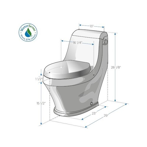 Fresca Volna Contemporary Elongated 1 Piece Toilet