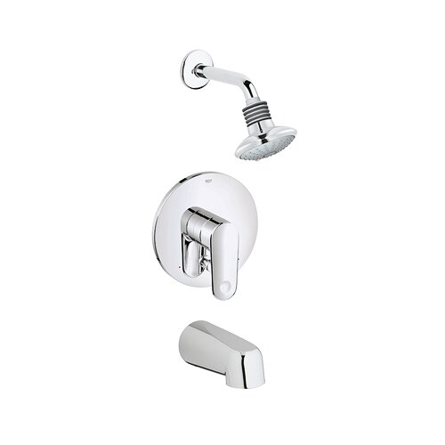 Grohe Europlus Shower Tub Combination Pressure Balance Diverter Tub Shower Faucet