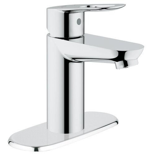 BauLoop Single Handle Centerset Bathroom Faucet with Escutcheon