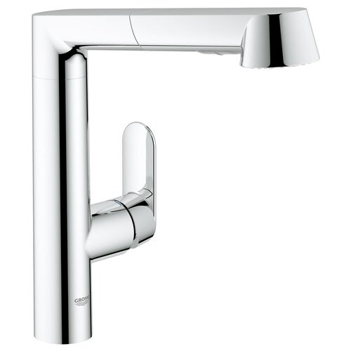 K7 Main Single Handle Single Hole Kitchen Faucet with Watercare and Pull Out Spray