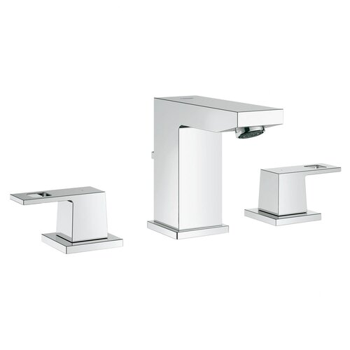 grohe eurocube widespread bathroom sink faucet with double With grohe eurocube bathroom faucet