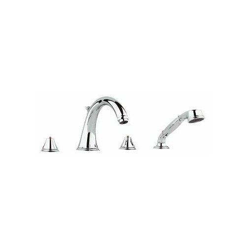 Grohe Geneva Double Handle Roman Thermostatic Tub Faucet with Hand Shower