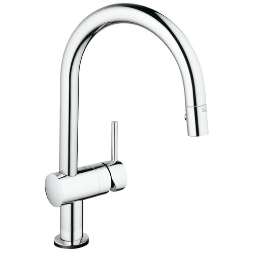 4 Hole Single Control Kitchen Faucet : Grohe minta touch single handle hole kitchen faucet with control reviews wayfair