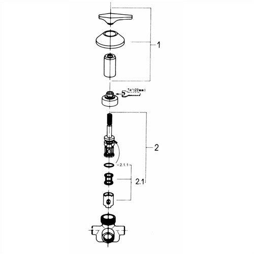 Grohe Classic 5-Port Diveter Faucet Shower Faucet Trim Only