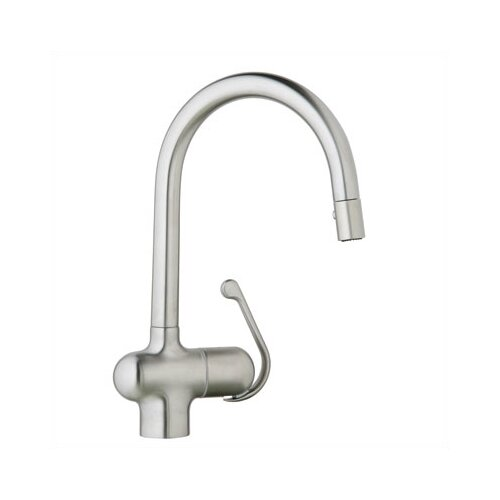 Ladylux Pro Single Handle Single Hole Kitchen Faucet with Dual Spray Pull Out
