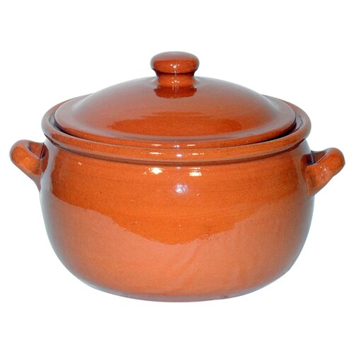Non stick terracotta stew pot in peacock green wayfair uk - Marmite en terre cuite ...