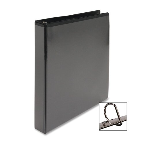 """Business Source D-Ring View Binder, 5"""" Capacity, Black"""