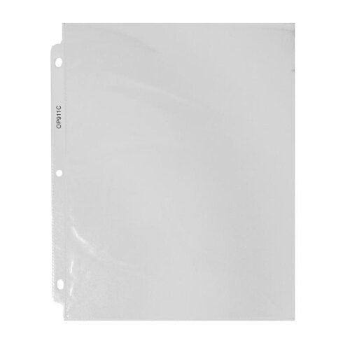 "Business Source Sheet Protectors,Top Load,5 mil,11""x8-1/2"",50 per Box,Clear"