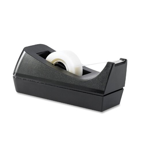 "Business Source Tape Dispenser, Holds 1/2""-3/4""x36 Yds, 1""Core, Black"