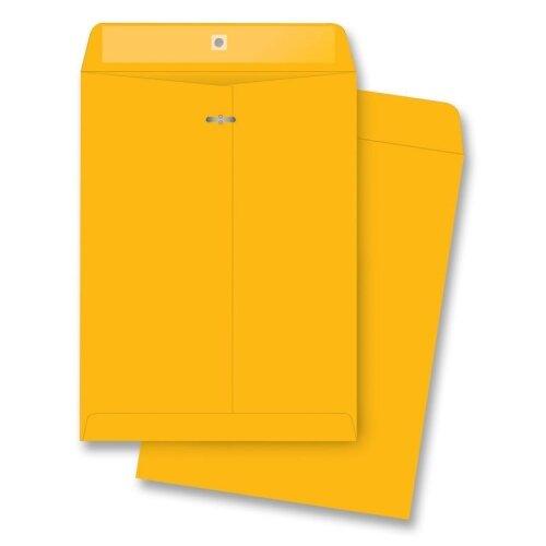 "Business Source Clasp Envelopes, 28 lb., 6""x9"", 100 per Box, Brown Kraft"
