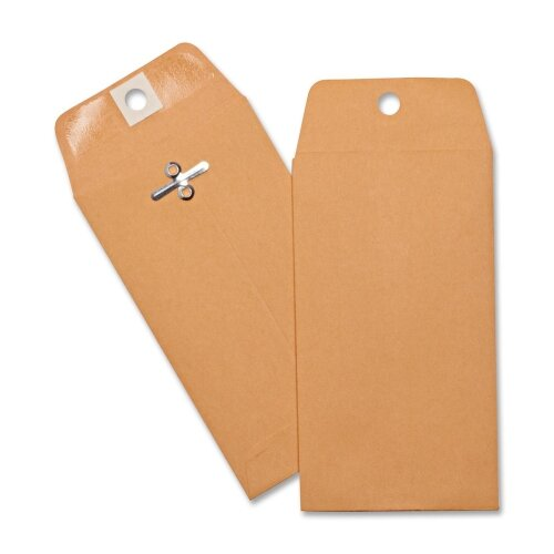 Business Source Hvy-duty Clasp Envelopes,100 per Box,Brown Kraft