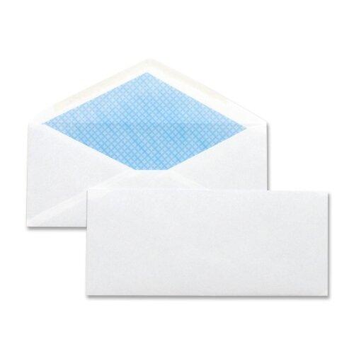 "Business Source Security Regular Envelopes,No. 10,4.12""x9-1/2"",500 per Box,White"
