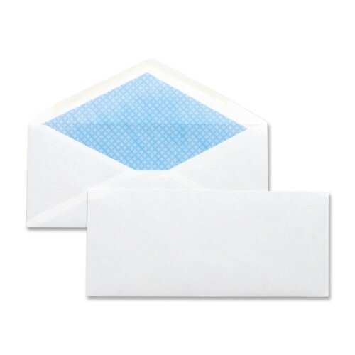 "Business Source Security Regular Envelopes,No. 10,4.12""x9-1/2"",500 per Box,White"