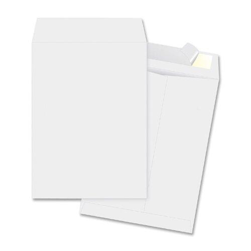 "Business Source Open-End Envelopes, Plain, 10""x13"", 100 per Box, White"