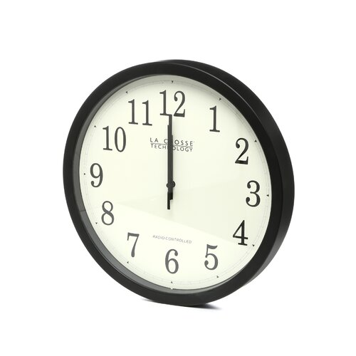 "La Crosse Technology Analog Classic Atomic 14"" Wall Clock"