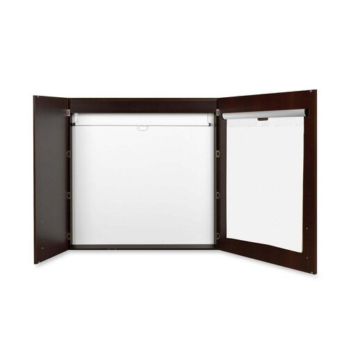 Bi-silque Visual Communication Product, Inc. Mastervision Conference Cabinet 4' x 4' Whiteboard
