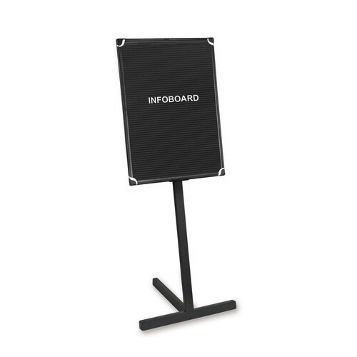 "Bi-silque Visual Communication Product, Inc. Standing Letter Board, 2'x3' Board, 19""x23""x63"", Black"
