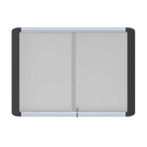 Bi-silque Visual Communication Product, Inc. Platinum Pure White Magnetic Enclosed Dry-erase 3 x 4