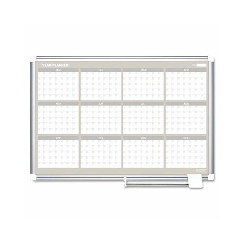 Bi-silque Visual Communication Product, Inc. Mastervision 12 Month Year Planner 2' x 3'  Whiteboard