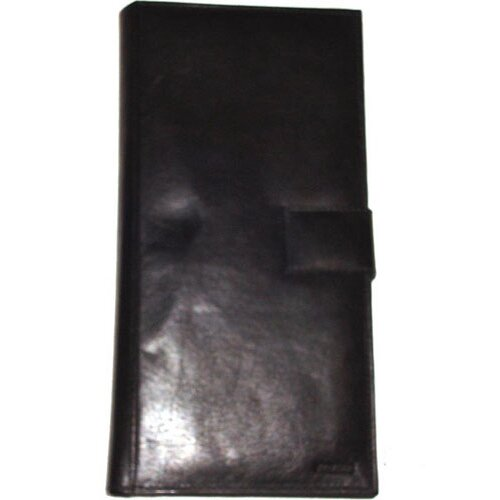 Leather Travel Passport Wallet with 23 Credit Card Pockets
