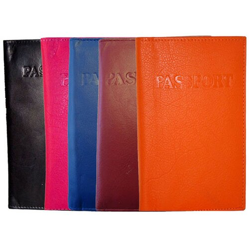 Kozmic Leather Colored Passport Holders Wallet