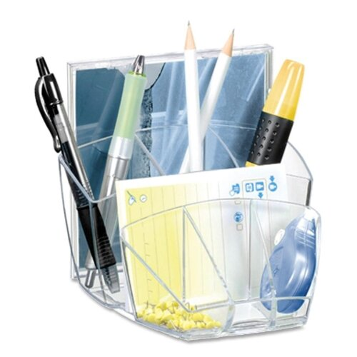 "Cep Desktop Organizer,8 Compartments,5-3/5""x6""x3-3/5"",Ice Black"
