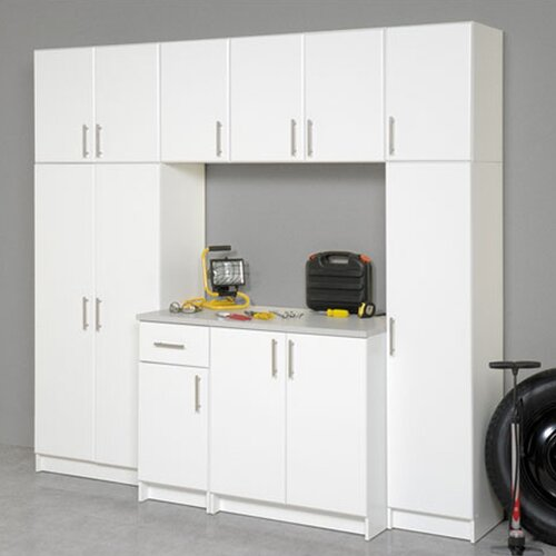 "Prepac Elite Storage 65"" H x 16"" W x 16"" D Garage/Laundry Room Broom Cabinet"