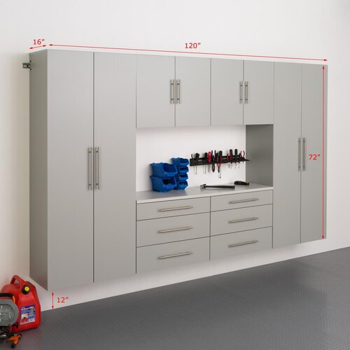 HangUps 6' H x 10' W x 1.33' D 6 Piece Storage Cabinet I Set ...