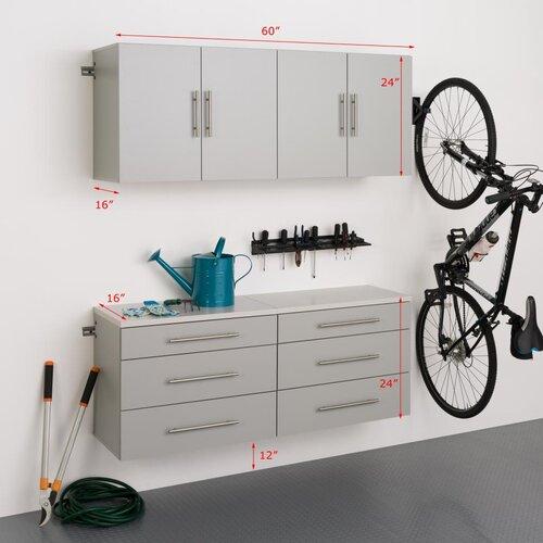 HangUps 6' H x 5' W x 1.33' D 4 Piece Storage Cabinet F Set ...