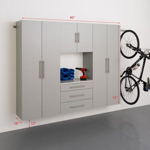HangUps 6' H x 7.5' W x 1.33' D 4 Piece Storage Cabinet G Set ...