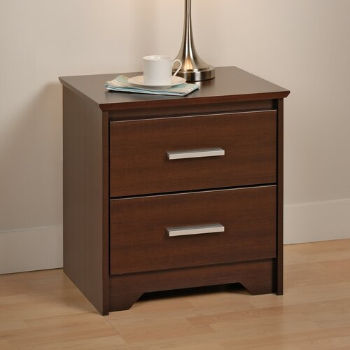 Prepac Coal Harbor 2 Drawer Nightstand