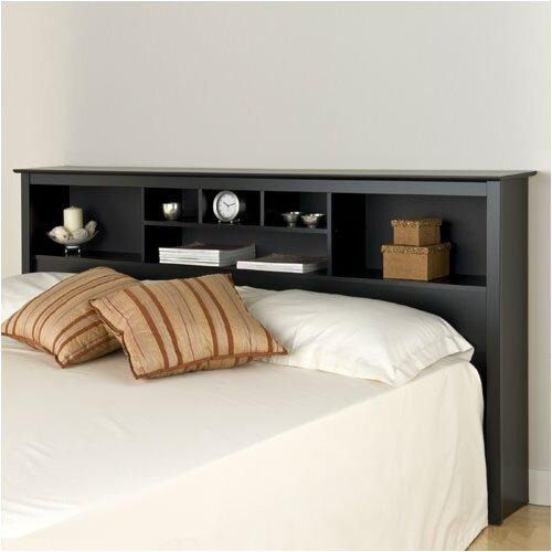 Prepac Sonoma Storage Bookcase King Size Headboard
