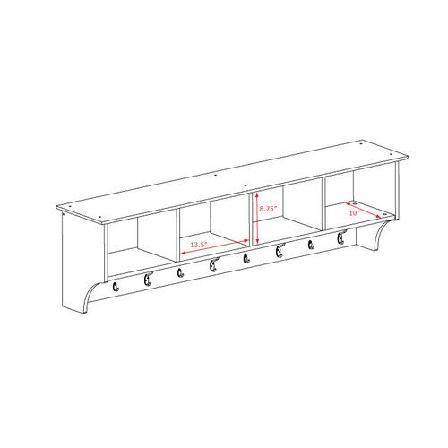 "Prepac 60"" Hanging Entryway Shelf"