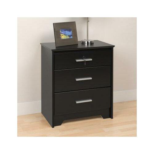 Prepac Coal Harbor 3 Drawer Nightstand