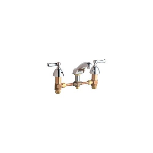Chicago Faucets Widespread Bathroom Sink Faucet with Double Lever Handles
