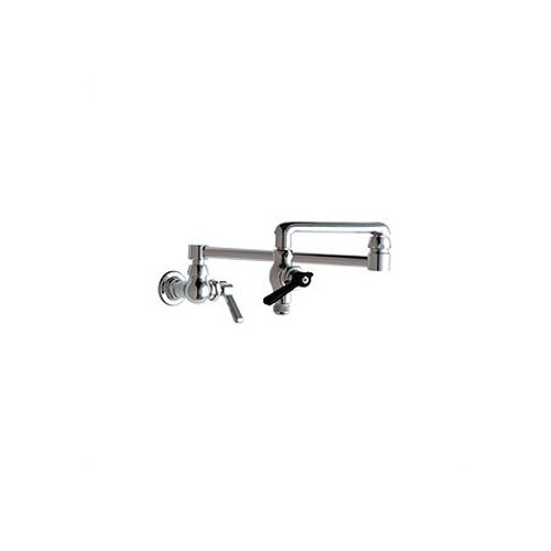 Chicago Faucets 515 Double Handle Wall Mount Pot Filler Faucet