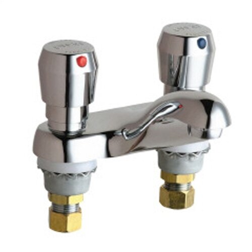 Metering Bathroom Faucet with Double Metering Handles