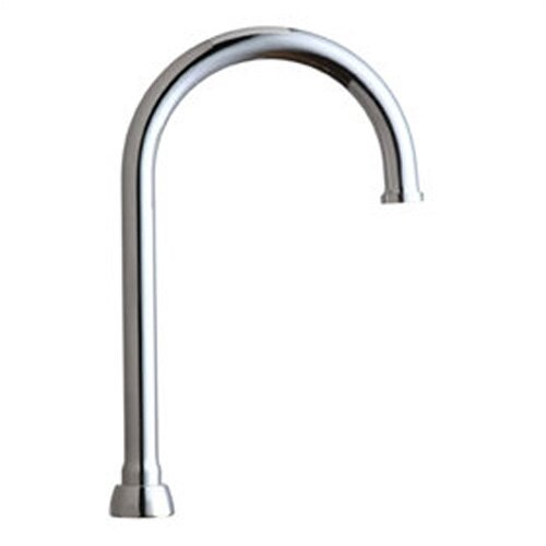 Chicago Faucets Rigid Swing Plain End Gooseneck Spout Faucet