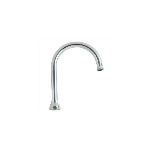 """Chicago Faucets Replacement Parts 8"""" Gooseneck Swing Spout with 0.81"""" Thread"""