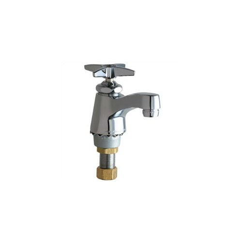 Singgle hole cold water bathroom faucet with single cross - Single hole cross handle bathroom faucet ...